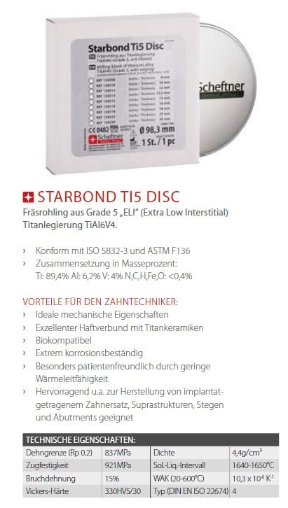 fräsrohling ti 5 scheftner starbond disc titan produktdetails