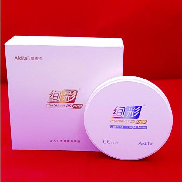 aidite 3d pro multilayer fräsrohling ronde 98.5mm zirkon zr