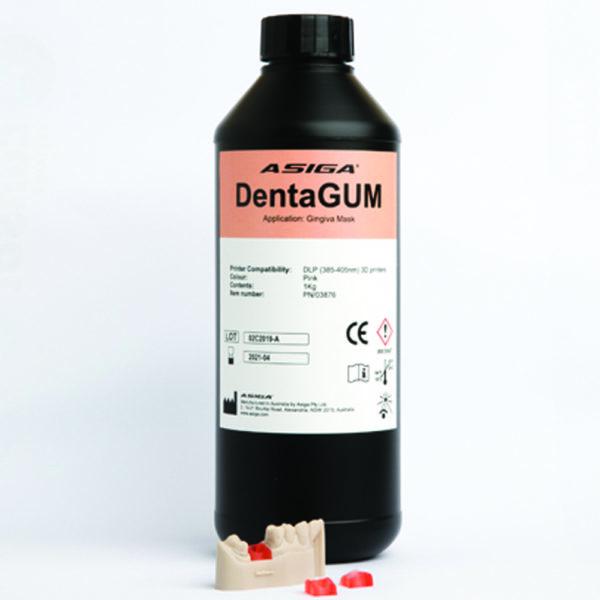 asiga dental gingiva digital 3d druck resin modelherstellung kunststoff