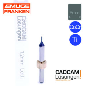 emuge 1.2mm 6mm fräser lollipop lollli titan cocr