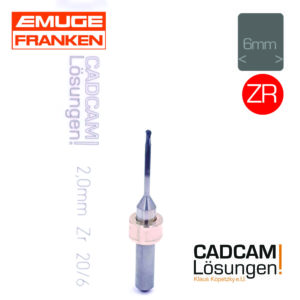 emuge 2,0mm 6mm fräser radius diamantiert l20mm zr zirkon
