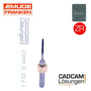 emuge 2,5mm 6mm fräser radius diamantiert l20mm zr zirkon