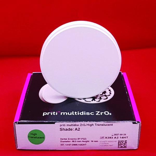 fräsrohling ronde zirkon pritidenta priti momochrom hochtranslucent hochtransluzent 98 5mm