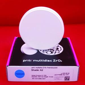 fräsrohling ronde zirkon pritidenta priti momochrom translucent transluzent 98 5mm