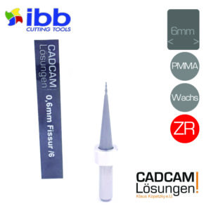 ibb 0,6mm 6mm milling tool fräser konisch fissur zr pmma wachs