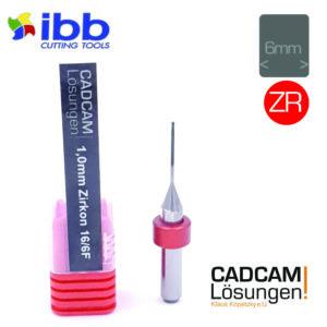ibb 1.0mm 6mm milling tool fräser diamantiert 16mm zr zirkon