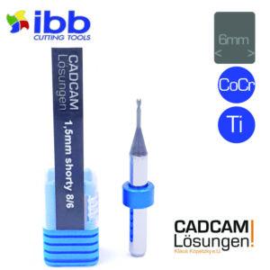 ibb 1.5mm 6mm milling tool bullnose torus fräser shorty 8mm titan cocr