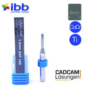ibb 3.0mm 6mm milling tool bullnose torus fräser hvf hochvorschubfräser 14mm titan cocr