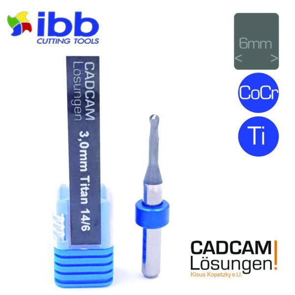 ibb 3.0mm 6mm milling tool radiusfräser 14mm titanjpg