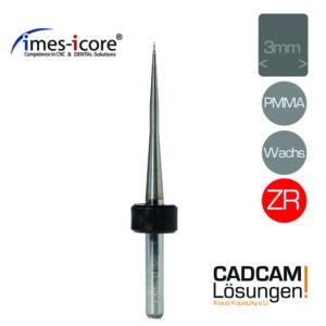 imes icore 0.3mm 3mm radius milling tool fräser pmma wachs zirkon t33 t43 t53