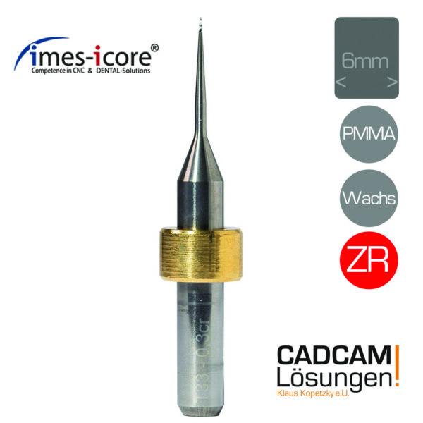 imes icore 0.3mm 6mm radius milling tool fräser pmma wachs zirkon t33 t43 t53