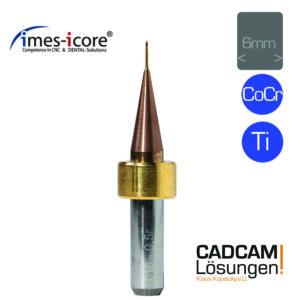 imes icore 0.5mm 6mm radius milling tool l4mm cocr ti universal fräser t18
