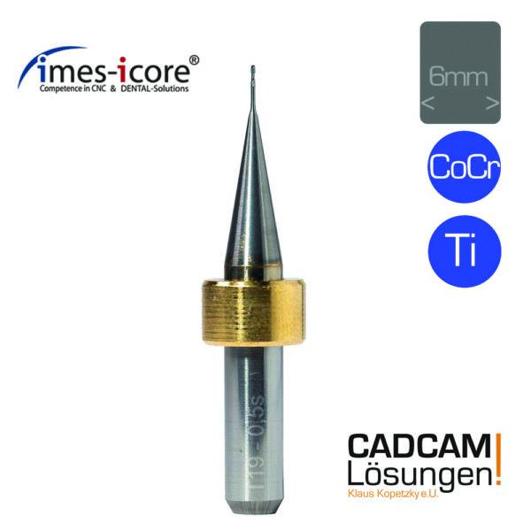 imes icore 0.5mm 6mm shaft milling tool fräser schaftfräser titan cocr t19
