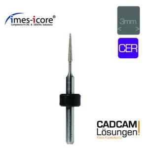 imes icore 0.6mm 3mm radius grinding tool konisch schleifkörper glaskeramik cer t23