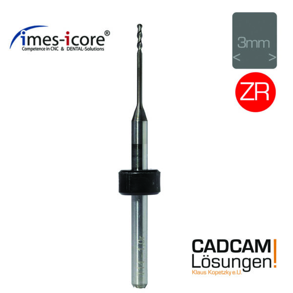 imes icore 1.0mm 6mm radius milling tool diamantiert zirkon fräser t14 t41 t51