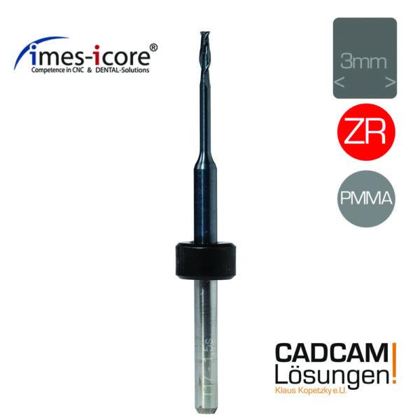 imes icore 1.5mm 3mm shaft fräser milling tool 15mm zr pmma t5 t10 t17