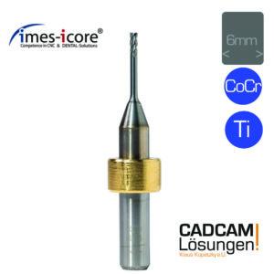 imes icore 1.5mm 6mm milling tool l12mm vierschneider fräser titan cocr t5 t10