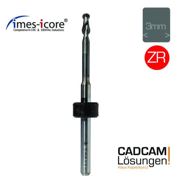 imes icore 2.5mm 3mm radius milling tool diamantiert fräser zirkon t13 t40 t50