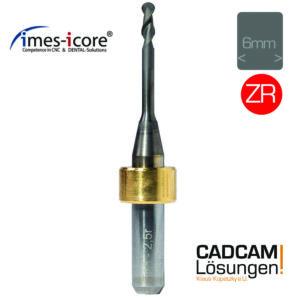 imes icore 2.5mm 6mm radius milling tool diamantiert zirkon fräser t13 t40 t50