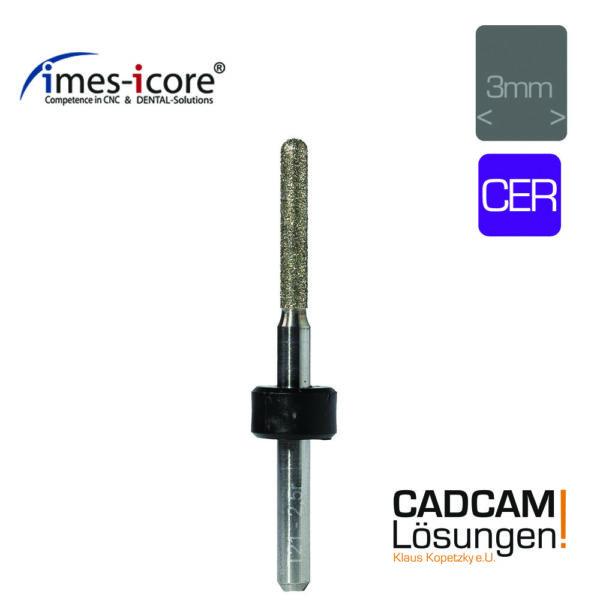 imes icore 2,5mm 3mm schleifkörper diamantiert cer glaskeramik t21
