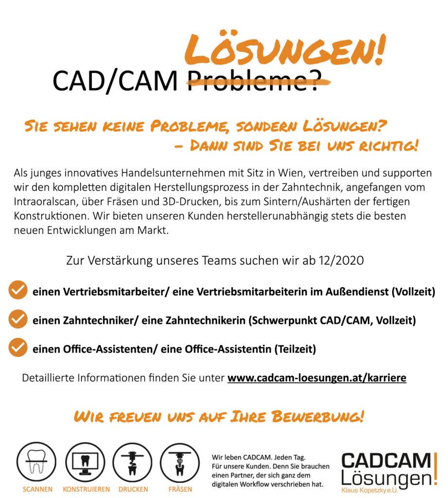 cadcam loesungen stellenausschreibung oktober 2020